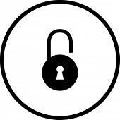 open padlock symbol