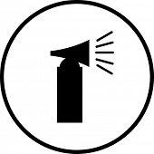símbolo del cuerno de aire