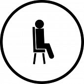 sitting in a chair symbol