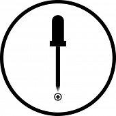 símbolo de destornillador de cabeza Phillips