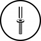 hex head screw and key symbol