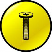 botón de tornillo de cabeza Phillips