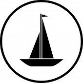 foto of sail-boats  - sailboat symbol - JPG