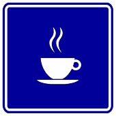 coffee cup sign