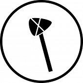 primitive stone axe symbol