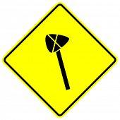 stone axe sign