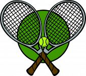 tennis racquets and ball