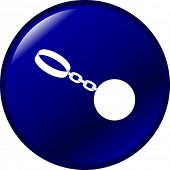 ball shackle button