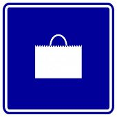 shopping bag sign