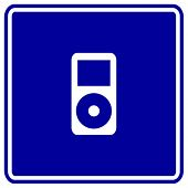 portable music player sign