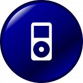 potable music player button