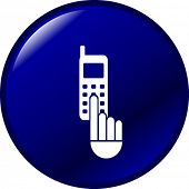 cell phone dialing button