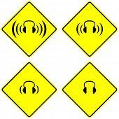 headphones sign