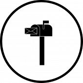símbolo de caixa de correio