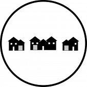 neighborhood houses symbol