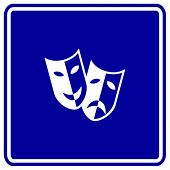 theater masks sign