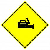 video camera sign