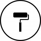 símbolo de rolo de pintura