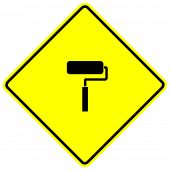 paint roller sign