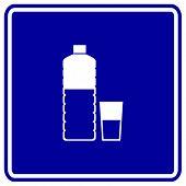 bottled water sign