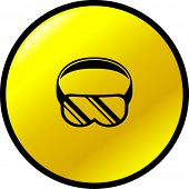 scuba diving or eye protection goggles symbol