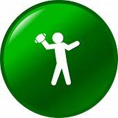 football quarterback button