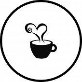 coffee heart symbol