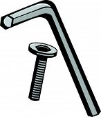 hex wrench and screw