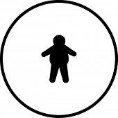 símbolo de homem com excesso de peso