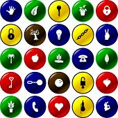 diverse button set 10