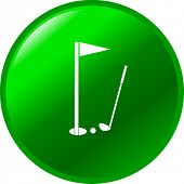 golf hole button