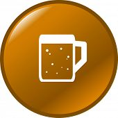 beer mug button