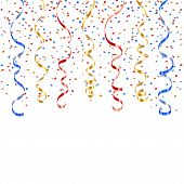 Ribbon Confetti Isolated poster