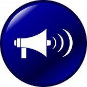 bullhorn button