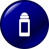 deodorant or antiperspirant button