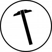 t-square or parallel ruler symbol