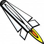 cohete de misiles militares