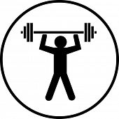 pic of weight-lifting  - weight lifting symbol - JPG