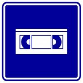 vhs video tape sign