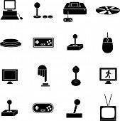 videogame gaming symbols set