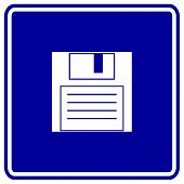 floppy disk or diskette sign