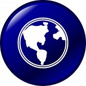 planet earth button