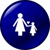 mother and daughter symbol