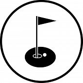 golf hole symbol