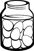 pickled eggs in glass jar