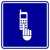 cell phone dialing sign