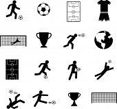Постер, плакат: набор символов футбол