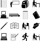 school symbols set
