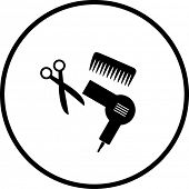 haircut or hair salon symbol 2
