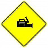 professional video camera sign